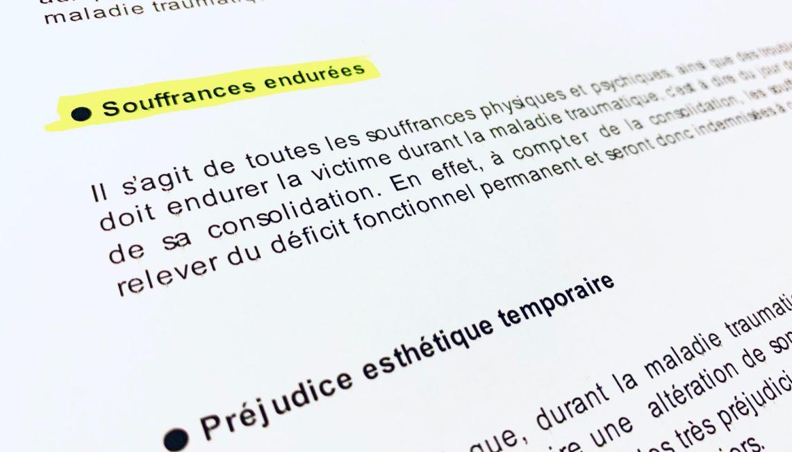 Nomenclature Dintilhac - SOS Recours